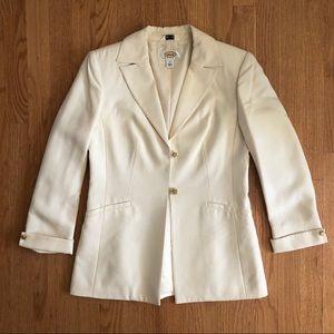 Talbots Ivory Silk Blazer